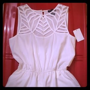 White short jumpsuit